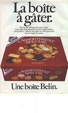 """PUBLICITE ADVERTISING  1984   BELIN biscuits gateaux """"la boite à gater"""""""