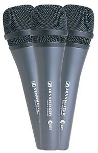 Sennheiser 3 Pack E835 Evolution Live Vocal Microphone - Ships FREE U.S.
