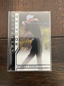 2021 Upperdeck Artifacts Norman Xiong rc SSP BLACK #92/99 refractor