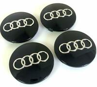 AUDI A3 A4 A6 A8 TT 4X NEW ALLOY WHEEL CENTRE HUB CAPS BLACK 60MM 4B0601170 NEW