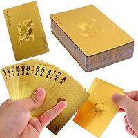 Super 24K Gold Foil Poker Popular Lattice Grid Waterproof Playing Cards
