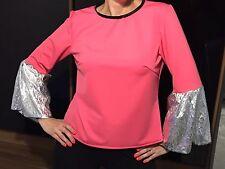 10 X Rosa Abba años 70 estilo dance Prendas para el torso Adultos Talla 12-Etapa Disfraces-Joblot