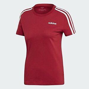 ADIDAS womens ladies t shirt tee top slim fit medium BURGUNDY crew neck crew