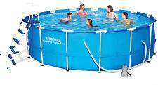 Bestway 56438 457x122cm Frame Swimming Pool Schwimmbad inc.Leiter, Zubehör