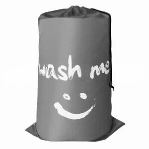 Smile Shape Nylon Laundry Bag Wash Me Pouch Washable Organizer Drawstring Bag FJ