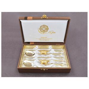 Korean Titanium Spoon Chopsticks Stainless Steel Gold Plated Turtle Couple Gift