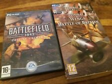 Battlefield 1942 3 Disc Deluxe Edition & Combat Wings Britain UK PC CD Rom