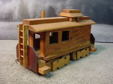 Handcrafted Handmade Solid Wood Large Scale Train Offset Copula Caboose