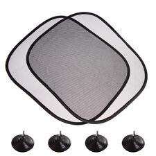 2PCS Side Rear Window Screen Mesh Sunshades Sun Shade For Car UV Protection ON