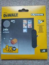 DEWALT dtm3107 Confezione da 5 VELCRO MESH Dettaglio Sander Fogli Abrasivi 240g-d26453