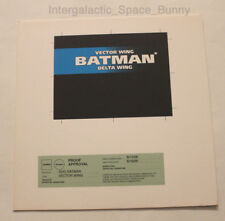 1995 Kenner Batman & Robin Duo Animated Vector Wing Name Plate Proof Card