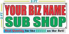 CUSTOM NAME SUB SHOP Banner Sign NEW