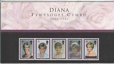 1998 GB Royal Mail presentation Pack Princess Diana Welsh commemoration