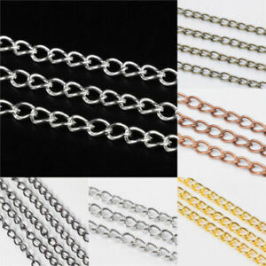 Lady Luck3: Iron Twisted Chains Curb Chains Necklace Jewellery Making