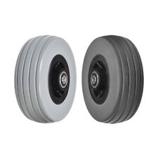 "6""x2"" Front and Rear Caster Wheels for Quantum Q6 Edge & Q6000Z Gray / Dark Gray"