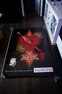 SWATCH LOVE 4x6 ft Bus Shelter Original Fashion Advertising Poster 2017