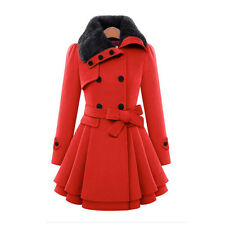 Womens Winter Long Trench Coat Ladies Fashion Parka Jacket Warm Outwear Overcoat