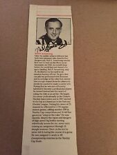 Neil P Armstrong NHL Referee Signed 1991 NHL HOF Program Page