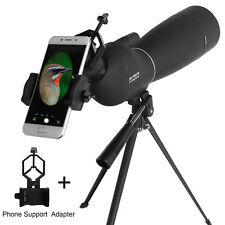 Zoom 25-75X70 Angled Spotting Scope Optical Prism Monocular Waterproof W/ Tripod