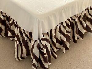 VINTAGE RARE RALPH LAUREN-Zebra/Zanzibar FULL- Dust Ruffle+Matching Pillow Cases