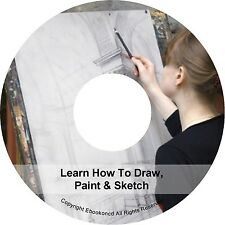 Learn How To Draw Drawings Paint Sketch Sketching Artist Art Portrait Books CD
