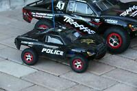 Custom Body Police Sheriff Style for Traxxas 1:16 Slash Mini 7012 1/16 Scale