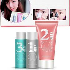 Pig nose Mask Clear Black Head remover 3 Step Kit Korean Cosmetic Facial Pore UP
