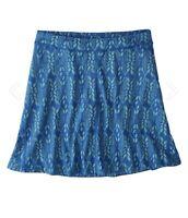 TOAD & CO Samba Wave Short Skirt Organic Cotton Blue Brand New $65 MSRP Sz S