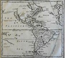 North & South America w/ bold California as an Island 1695 Moll scarce fine map