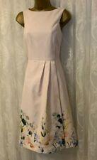 Ted Baker Kalla Texturizado Estampado Floral Dobladillo Midi Elegante Luluuu De