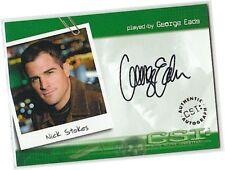 CSI Series 2 (Two) - CSI-A23 George Eads - Nick Stokes Auto/Autograph Card