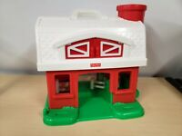 1995 Fisher Price Little People Red Barn With Silo