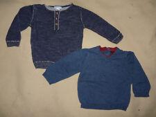 Lot de 2 pulls légers bleu bébé garçon 6 mois Vertbaudet Kiabi - TBE
