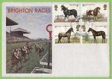 G.B. 1978 Horses set on official B. Racecourse First Day Cover Brighton