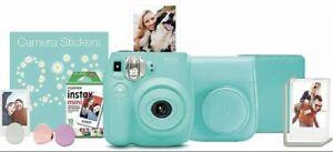 Fujifilm Instax Mini 7s Instant Camera Sea Foam Green Bundle