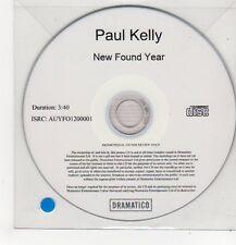(FF275) Paul Kelly, New Found Year - 2013 DJ CD