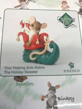"""Charming Tails by Enesco """"Your Helping Sole Makes The Holiday Sweeter"""" Nib"""