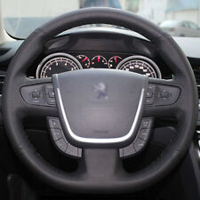DIY Stitch Leather Steering Wheel Cover for Peugeot 508 2011 2013 2014 2015 2016