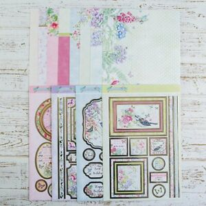 Hunkydory -All of a flutter  die-cut 12 A4 sheets, card, , toppers