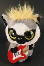 Yahoo & Friends Bean Bag Plush RACCOON with Red Guitar Yellow Mohawk Stuffed Toy