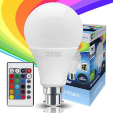 RGB LED 16 Colour Changing Light Bulb Party Light A80 B22 with Remote Control