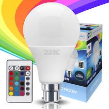 Rgb LED Bombilla 16 Cambio de Color de Luz A80 B22 Con Control Remoto