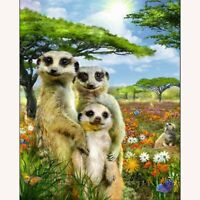 5D Full Drill Diamond Painting Mongoose Cross Stitch Kits Embroidery Arts Mural