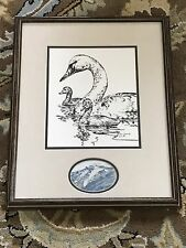 Janene Grende Duck Sketch Artist's Print 1989 + Watercolor