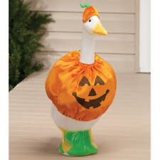Pumpkin Goose Outfit - Clothes Garden Cute Decor Outdoor Home Lawn Statue