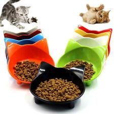 CW_ Cute Pet Kitten Ears Food Water Bowl Non-slip Storage Feeder Dish Utensil Wi