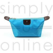 Ladies Waterproof Cosmetic Makeup Wash Make up Bag Light Blue