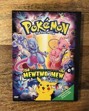 Pokémon The First Movie - Mewtwovs Mew - 2000 Vintage Snap Case Dvd Mint Tested
