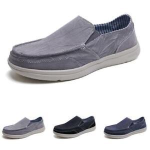 Mens Comfy Breathable Flats Sport Canvas Pumps Slip on Driving Moccasins Shoes D