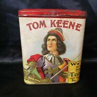Tom Keene Cigar Tin, Myers Cox Co., Dubuque, Iowa, Bondy & Lederer, New York